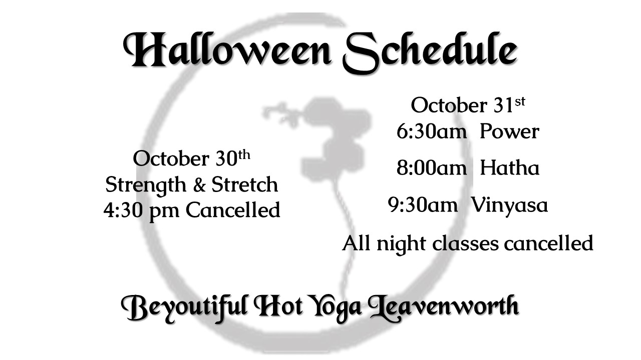 limited halloween week schedule